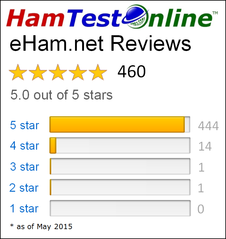 eHam.net reviews - 5.0 out of 5 stars!